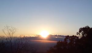 高尾山 初日の出