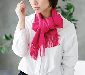 女性 マフラー カシミヤ ピンク