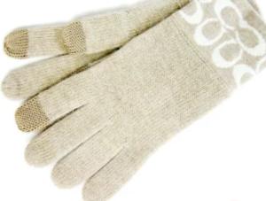 コーチ スマホ対応 レディース 手袋