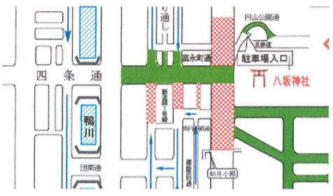 をけら詣り 交通規制 地図