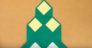 折り紙で作った門松