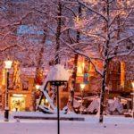 雪 クリスマス イルミネーション