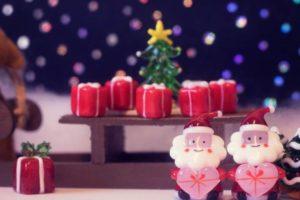 クリスマス サンタさん プレゼント クレイアート