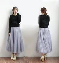 チュールスカート 服装