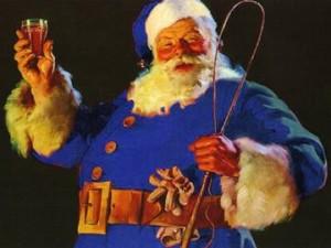 サンタクロース 青い服