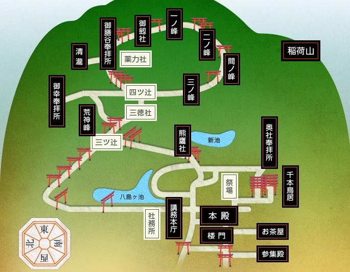 伏見稲荷大社 初詣 マップ
