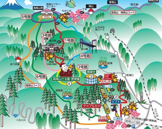 高尾山 初日の出 登山マップ