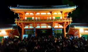 八坂神社 初詣 混雑