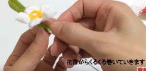 花の根元 巻く 手作り 髪飾り