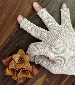 レディース シルク素材 手袋 スマホ対応