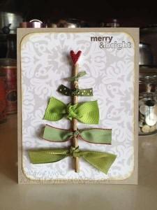 クリスマスメッセージカード 木の枝