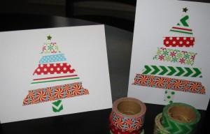 クリスマスメッセージカード マスキングテープ