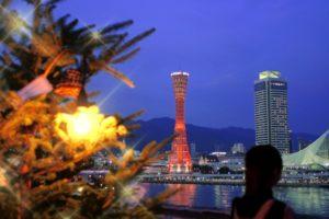 タワー 夜景 クリスマスツリー