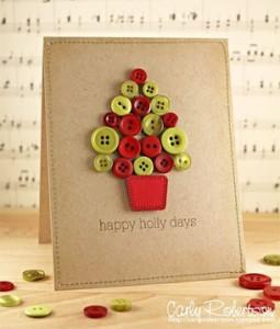 クリスマスメッセージカード ボタン