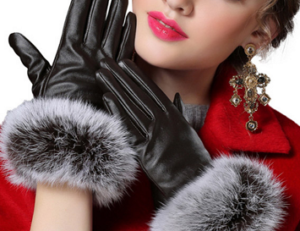 女性 手袋 スマホ対応 ファー