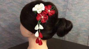 髪飾り 手作り つまみ細工