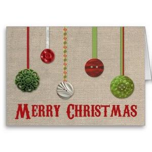 クリスマスメッセージカード オーナメント風