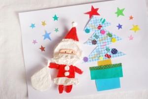 クリスマスメッセージカード サンタクロース