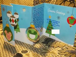 クリスマスメッセージカード ミッキー