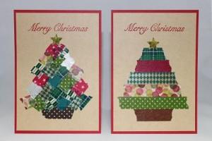 クリスマスメッセージカード こっくりカラー