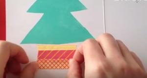 植木鉢 マスキングテープ クリスマスツリー
