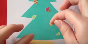 マスキングテープ クリスマスツリー 飾り付け クリスマスカード