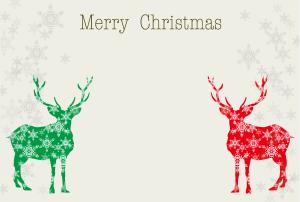 クリスマスメッセージカード トナカイ