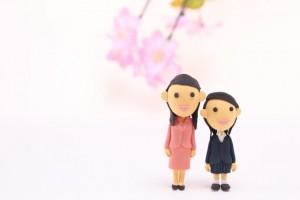 入学式 母親 女の子 クレイアート