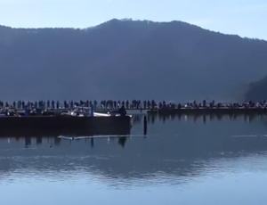 余呉湖 ワカサギ釣り