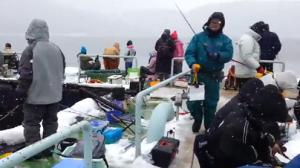 余呉湖 ワカサギ釣り 冬