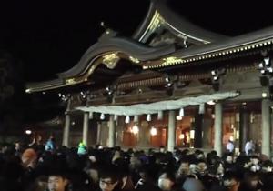 寒川神社 初詣 夜間