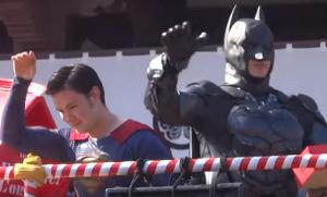 増上寺 節分 豆まき スーパーマン バットマン