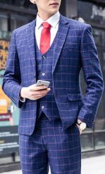 メンズ スーツ 赤ネクタイ