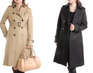 女性 コート ベージュ 黒