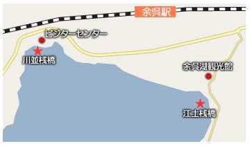 余呉湖 ワカサギ釣り マップ