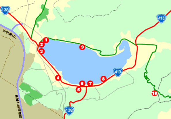 山中湖 駐車場マップ