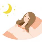 ベッドで眠る女性 イラスト