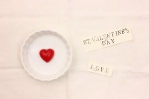 バレンタインデー カップの中のハート