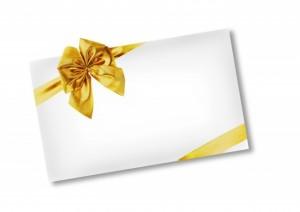 ゴールドのリボン プレゼント
