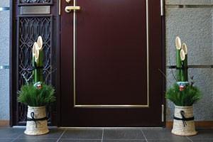玄関に飾ってある門松