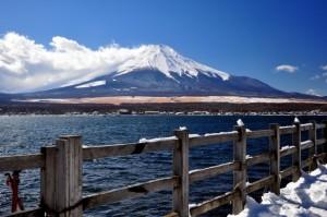 富士山 冬 山中湖
