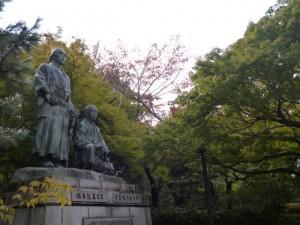 八坂神社 円山公園 坂本龍馬 中岡慎太郎