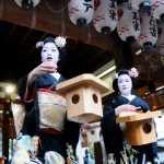 八坂神社の節分祭2017。見所は舞妓さんの豆まき!景品は?