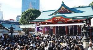 日枝神社 初詣 混雑