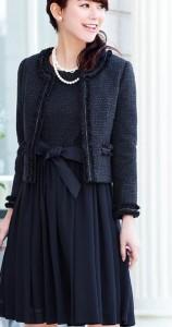 スーツ フレアスカート 入学式 母親