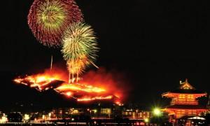 若草山 山焼き 花火
