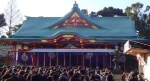 日枝神社 初詣 混雑具合