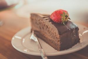 チョコレートケーキ いちご