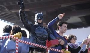 増上寺  節分 豆まき バットマン スーパーマン