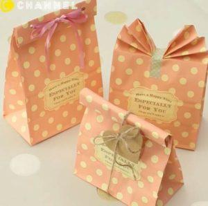 手作り 紙袋型ラッピング